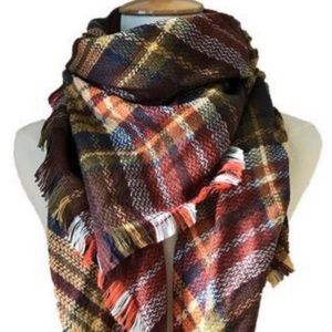 5⭐️Rated! Cozy Plaid Blanket Scarf